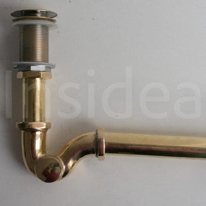 Solid Brass Trap, Push Up Button, Pop Up Drain