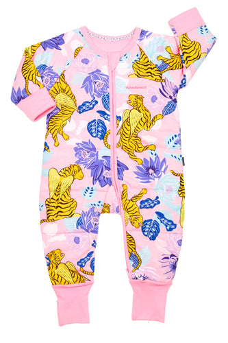 BONDS PADDED ZIP WONDERSUIT (When Tigers Fly Pink)