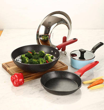 6Pcs medical stone non-stick cookware set - Cooker King