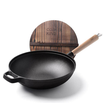 12 Inch NO.1 Cast Iron Wok - Cooker King