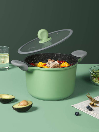 8.5 Inch Greenery Non-stick Casserole With Lid