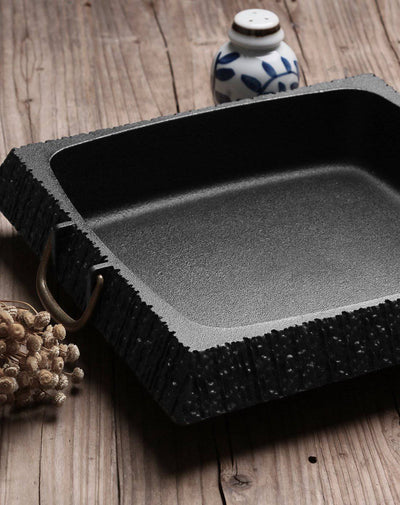 9.5 Inch Iron Family No. 3 Thick Cast Iron Square Pan - Cooker King