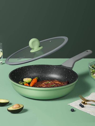 9.5Inch Green/Gray Non-stick Frying Pan