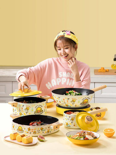 B.Duck Non-stick Cookware 4-piece Set