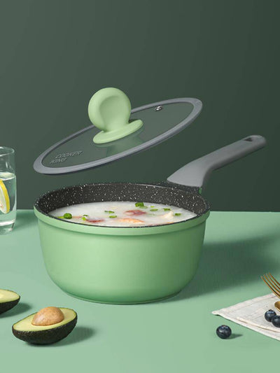7 Inch Green/Gray Non-stick Saucepan