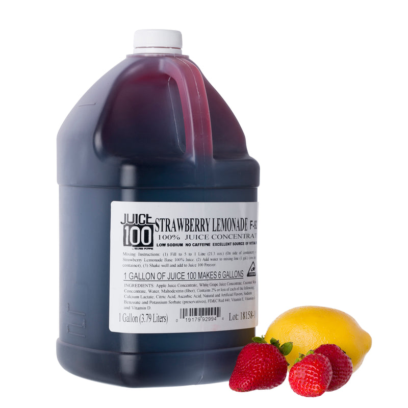 JUICE 100 STRAWBERRY LEMONADE FLAVOR BASE 4/1 gal