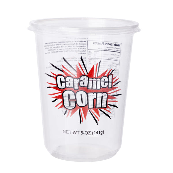 CARAMEL CORN CUP WITH LID