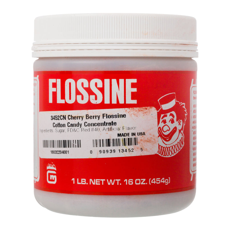 CHERRY RED FLOSSINE 1 lb tin