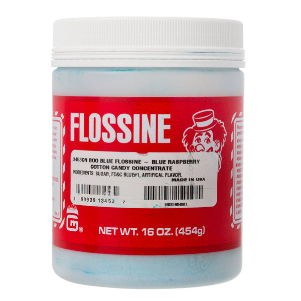 BLUE RASPBERRY FLOSSINE 1 lb tin
