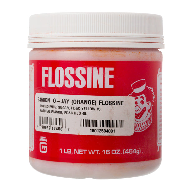 ORANGE FLOSSINE 1 lb TIN
