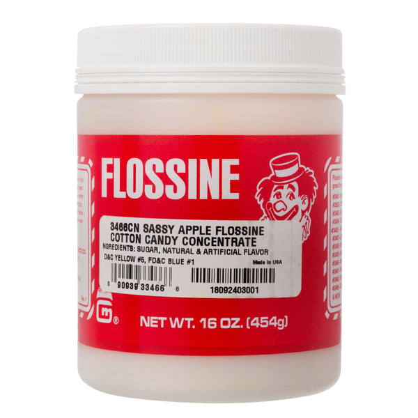 SASSY GREEN APPLE FLOSSINE 1lb TIN