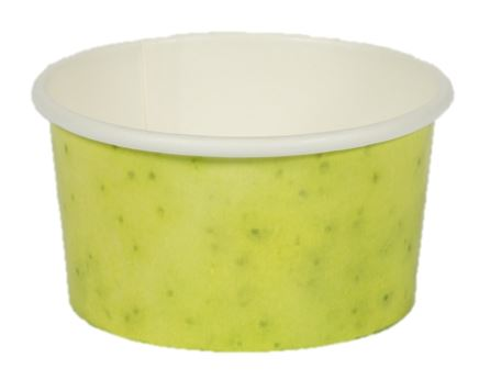Paper Gelato Cup Printed 100cc Green Apple - 2000/Case