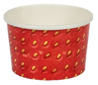 Paper Gelato Cup Printed 120cc Strawberry - 2000/Case