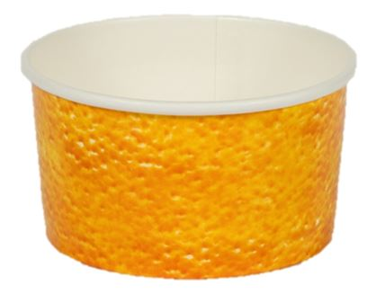 Paper Gelato Cup Printed 160cc Orange - 1400/Case