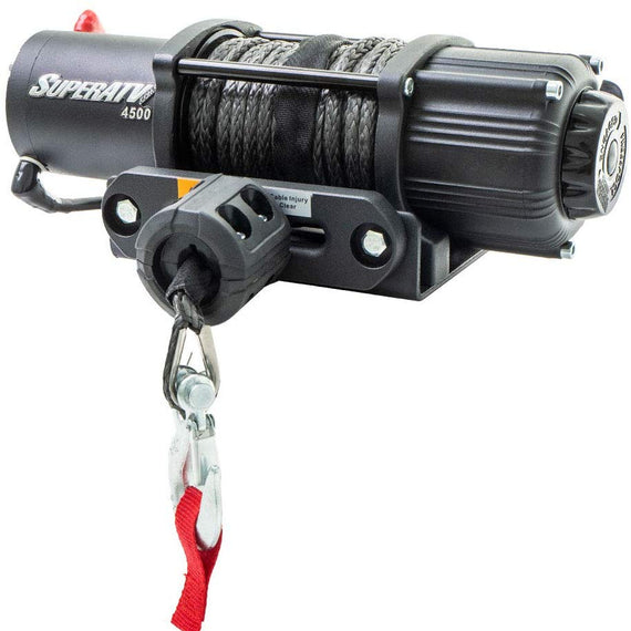 SuperATV 4500 lb. Black Ops ATV/UTV Winch with 50 ft. Synthetic Rope