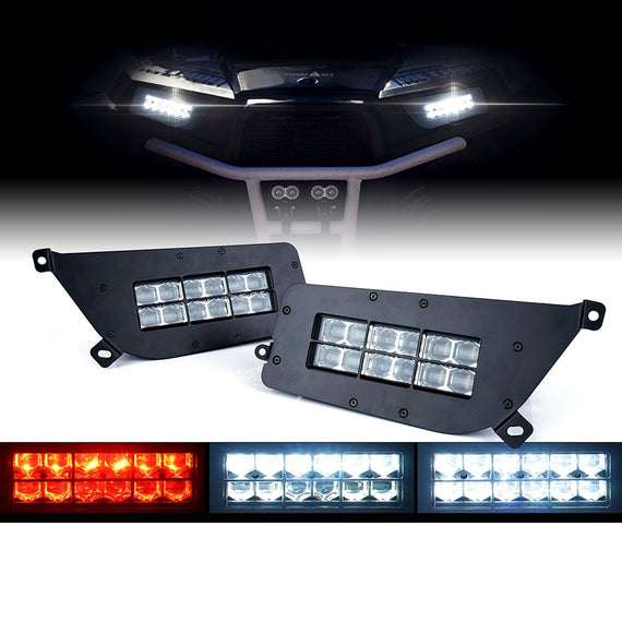 Xprite 90W High/Low Beam  LED Headlights With Red DRL