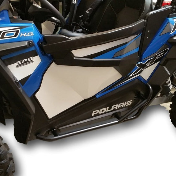 Polaris RZR 1000, 900, 900S, Turbo - Black Side Steps Nerf Bars - Watt Power Sports
