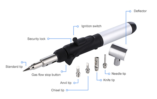 BluSky Butane Soldering Torch Kit