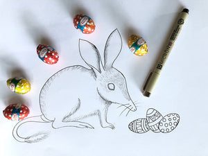 Easter Bilby Colouring Page