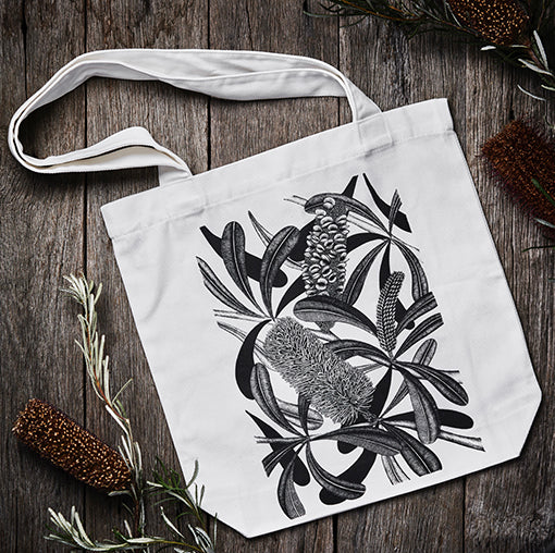 Tote bag and Banksia notebook set