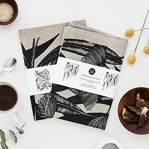 Botanical Art Tea Towel Gift Set