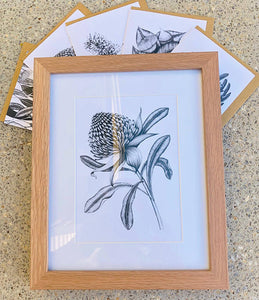 A5 Framed Print and Greeting Card Set