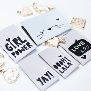 Weblabel SET #Girlscollection // 5 Stück