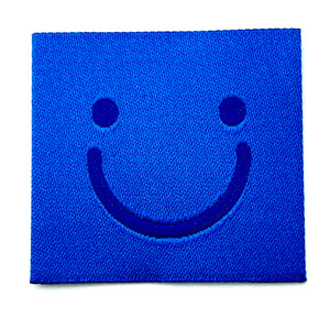 "Label ""Smiley"" // 1 Stück blau"