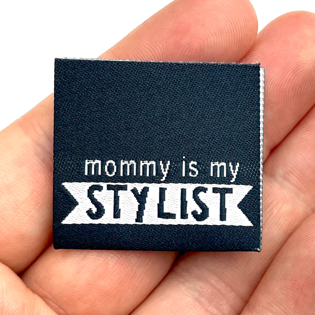 "Weblabel ""mommy is my STYLIST"" // 3 Stück"