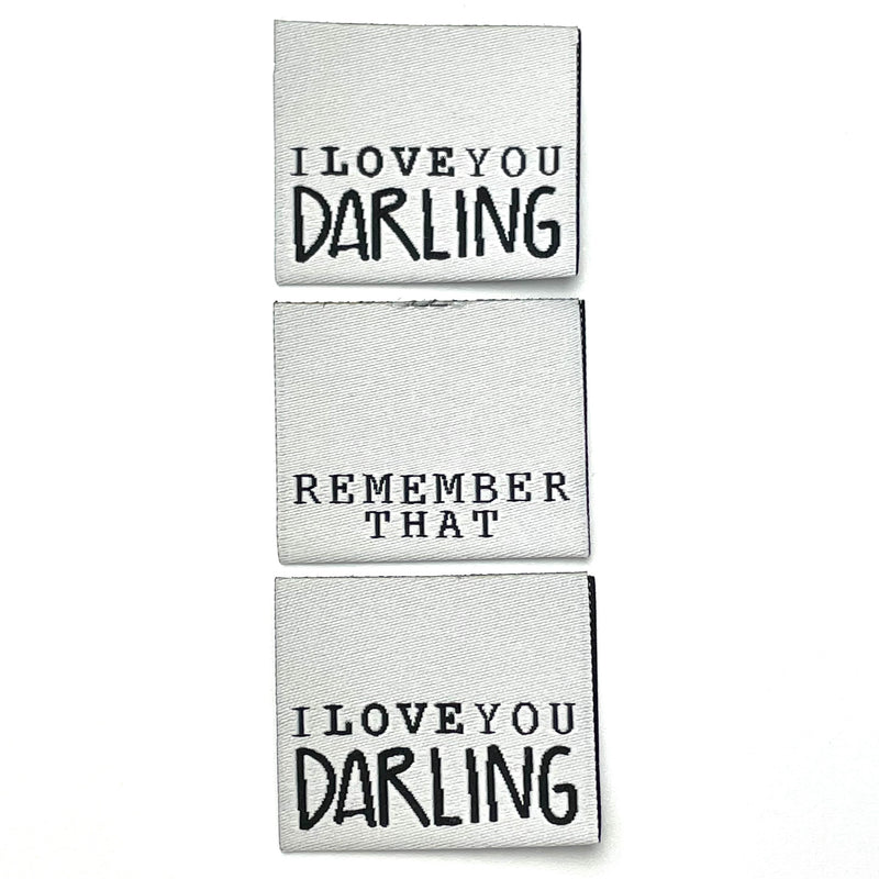"Weblabel ""I Love you Darling"" // 3 Stück"