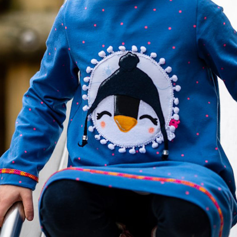 Applikationsvorlage Winterpinguin