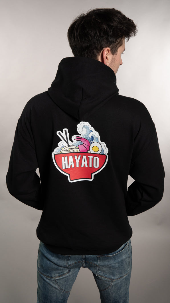 HAYATO - Big Wave Red Hoodie Unisex - HayatoClothing