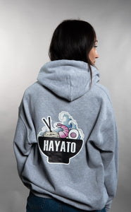 HAYATO - Big Wave Black Hoodie Unisex - HayatoClothing