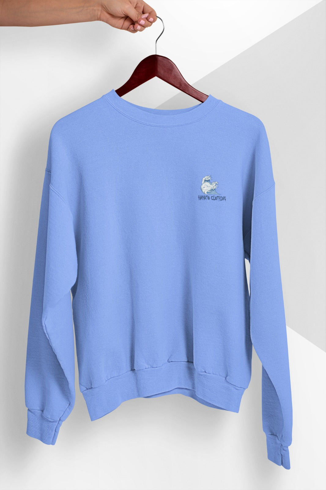 HAYATO - Cozy Wave Sky Blue Sweatshirt - HayatoClothing