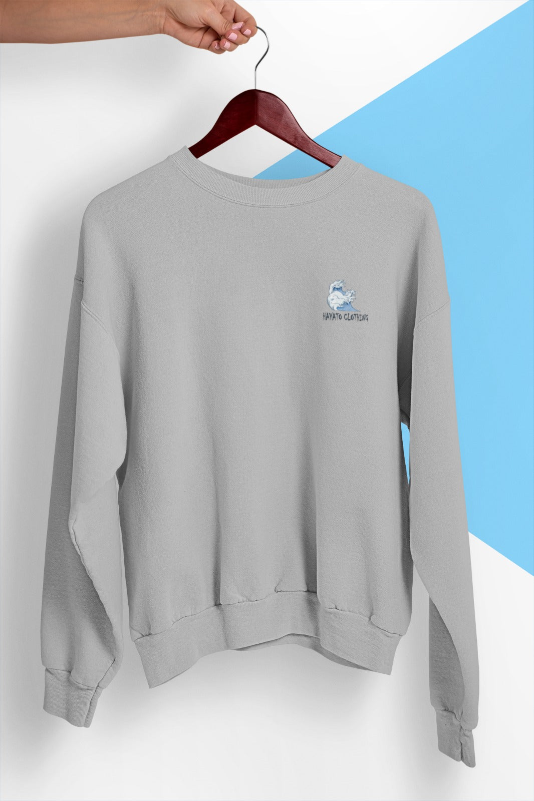 HAYATO - Cozy Wave Sport Grey Sweatshirt - HayatoClothing