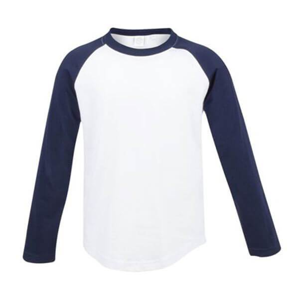 Kids Long Sleeve Baseball T-Shirt