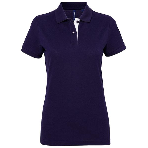 Women's Contrast Polo Shirt