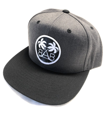 Gunmetal/Black Snapback Hat
