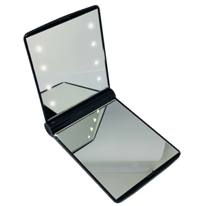 Blank LED Compact Mirror Black