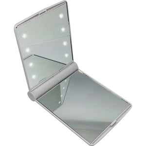 Blank LED Compact Mirror White