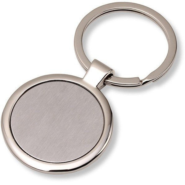 Wholesale 50 Blank Metal Key Chain Tags Circle