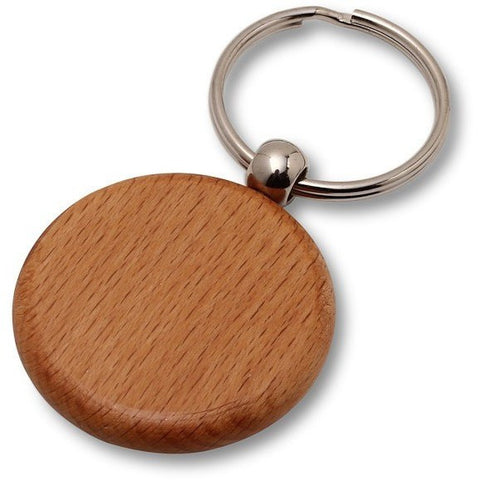 Wholesale Lot of 50 Blank Wooden Key Chain Tags Circle DIY