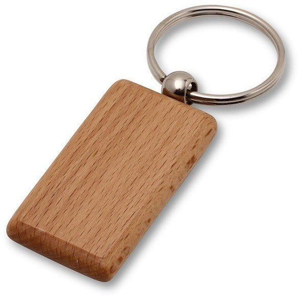 Wholesale Lot of 50 Blank Wooden Key Chain Tags Rectangle DIY