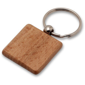 Wholesale Lot of 50 Blank Wooden Key Chain Tags Square DIY
