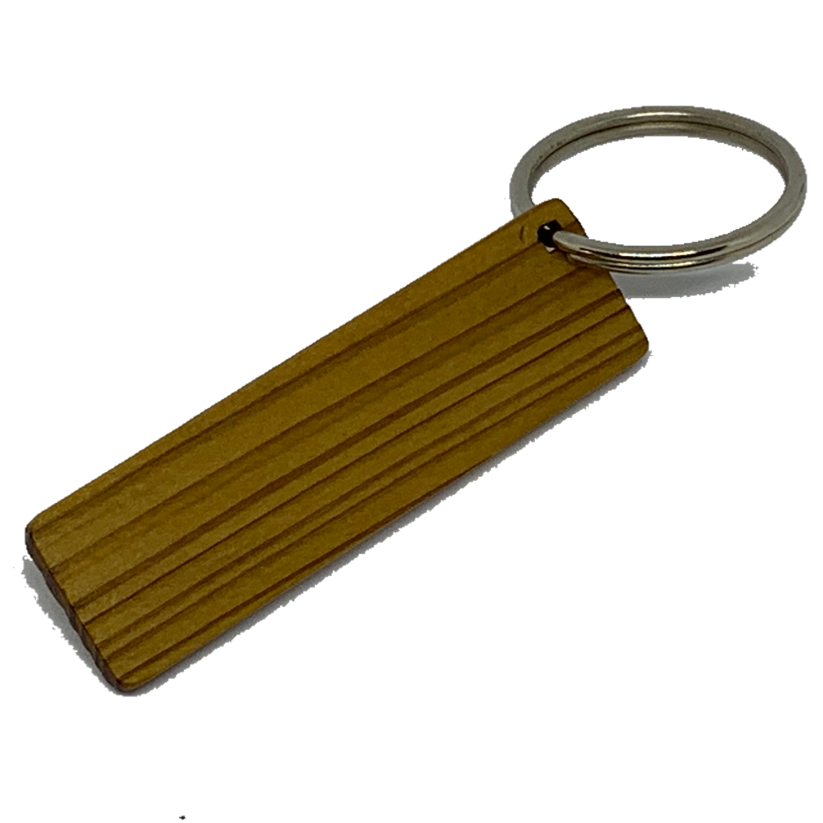 Blank Wooden Key Chain Tag Long Thin Rectangle
