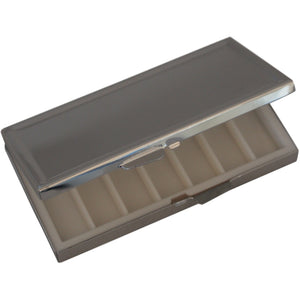 Wholesale 25 Blank Metal Pill Box Case Container Seven Slots