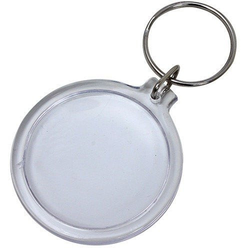 Wholesale Lot of 100 Blank Plastic Key Chain Tags Circle DIY