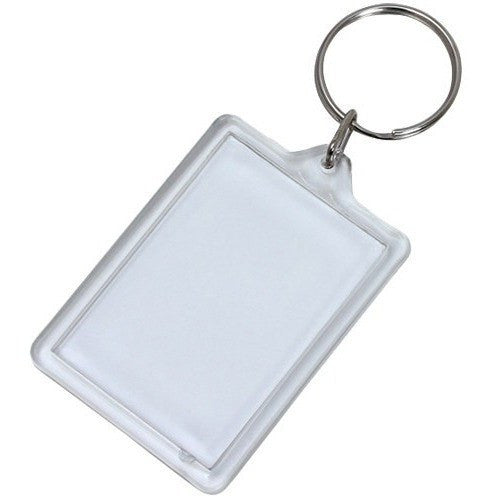 Wholesale Lot of 100 Blank Plastic Key Chain Tags Rectangle DIY