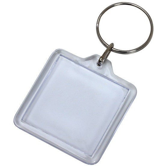 Wholesale Lot of 100 Blank Plastic Key Chains Square DIY