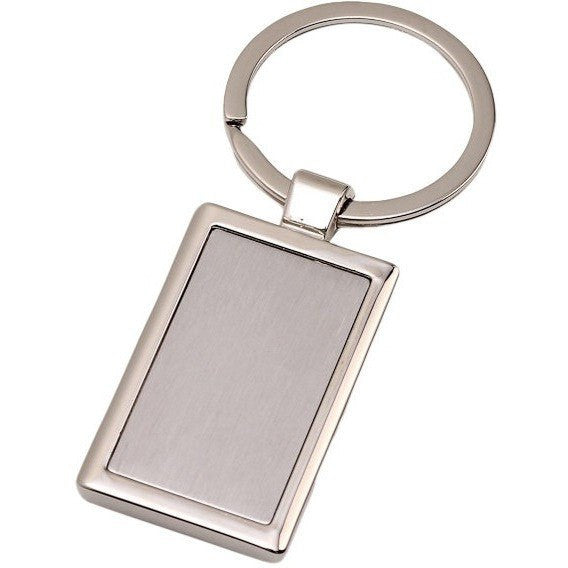 Wholesale Lot of 50 Blank Metal Key Chain Tags Rectangle DIY